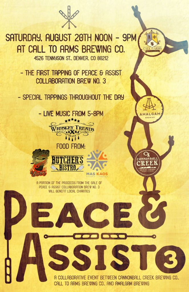 Peace and Assist 3 at Call to Arms Brewing